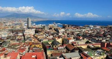 Naples, Vesuvius and port, Italy