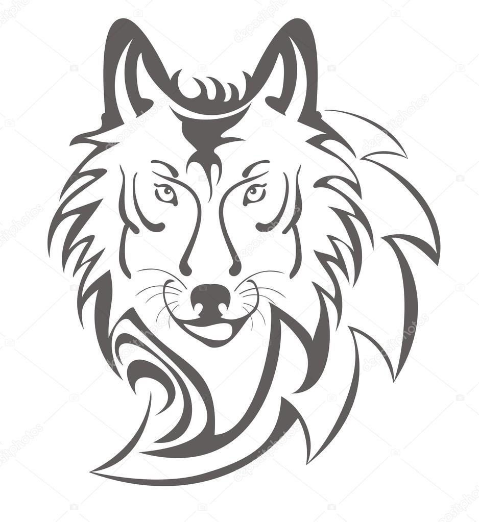 heulender wolf zum ausmalen