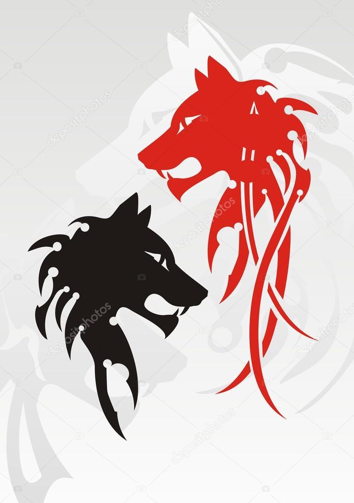 Tatuaż Tribal Wilk Grafika Wektorowa Lion21 22220147