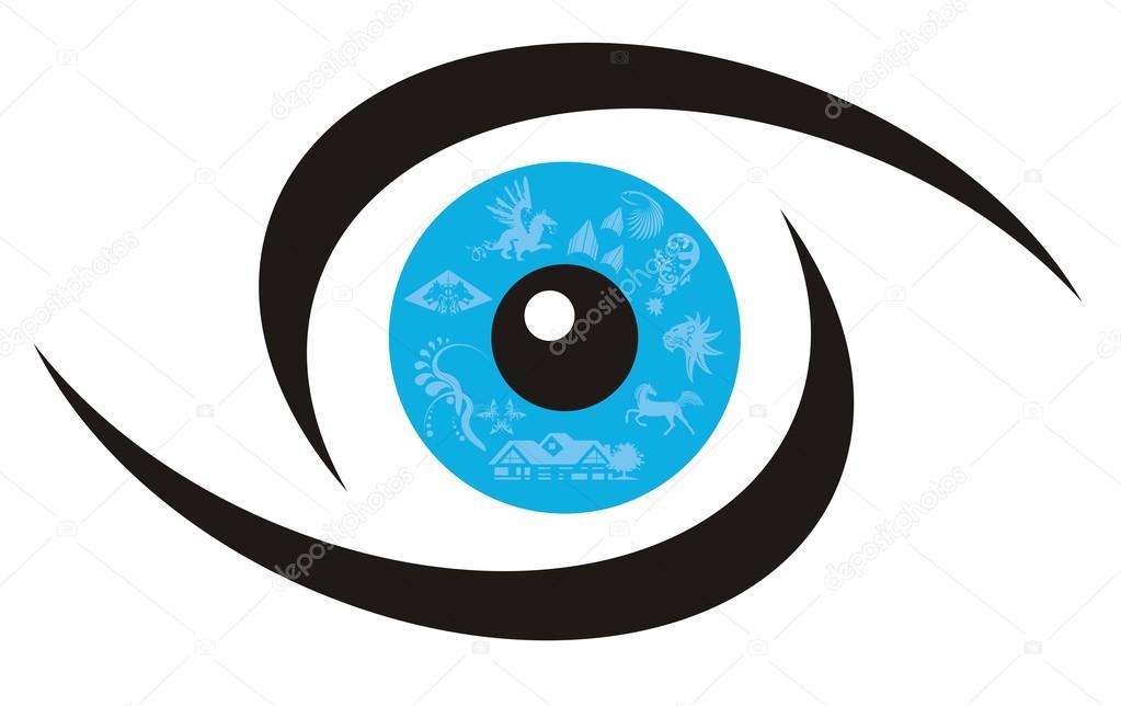 Eye Symbol Stock Vector Lion21 23914967