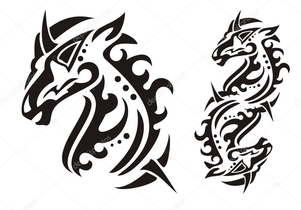 Tribal Unicorn Head Stock Vector Lion21 51476579