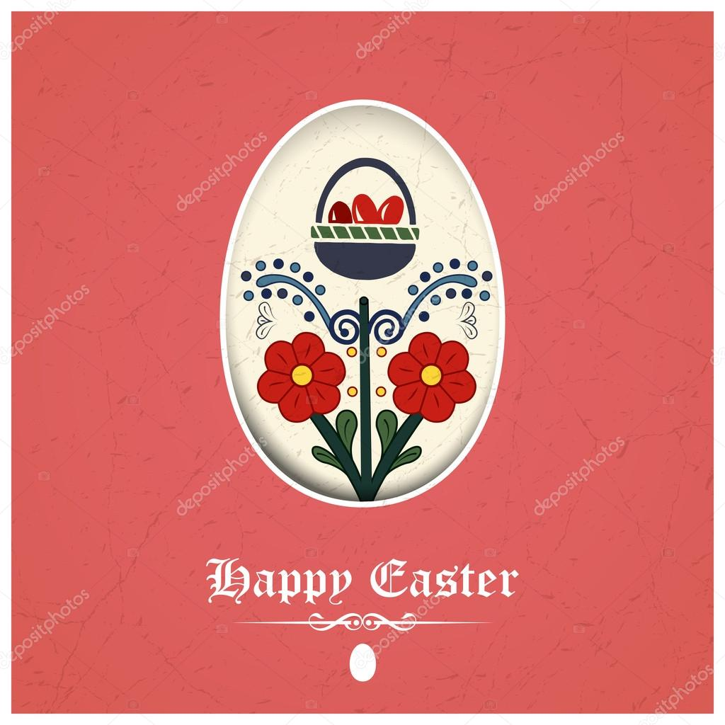 Traditional easter greeting card stock vector snowflakedesign traditional easter greeting card stock vector m4hsunfo Images