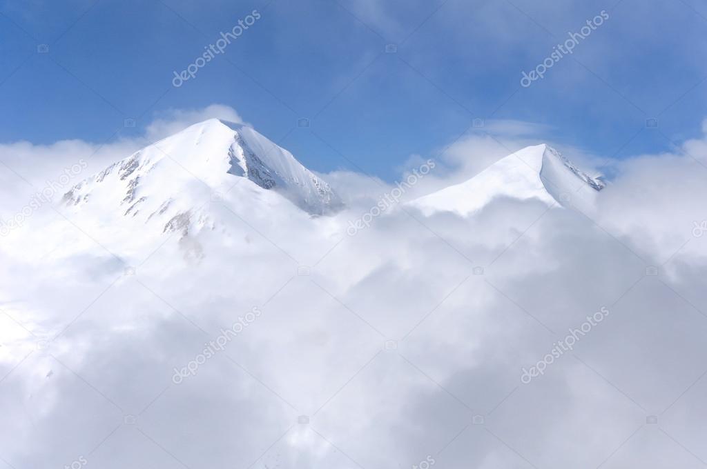 Winter mountain peaks