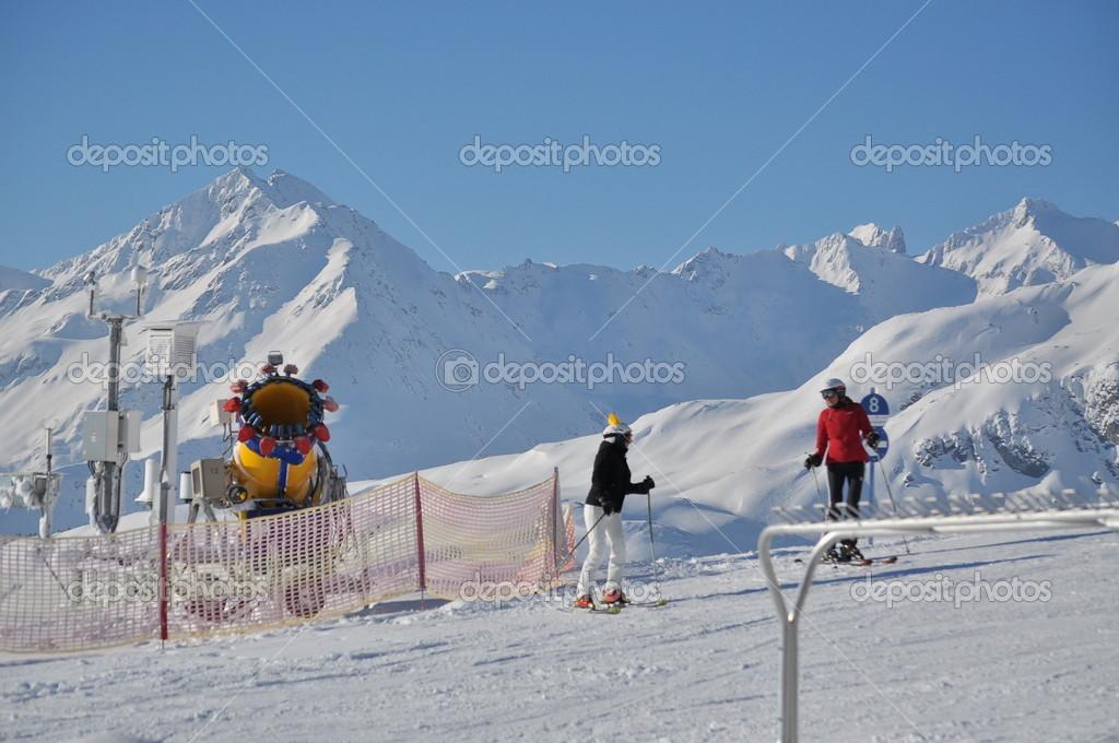 Snowgun in the Austian Alps