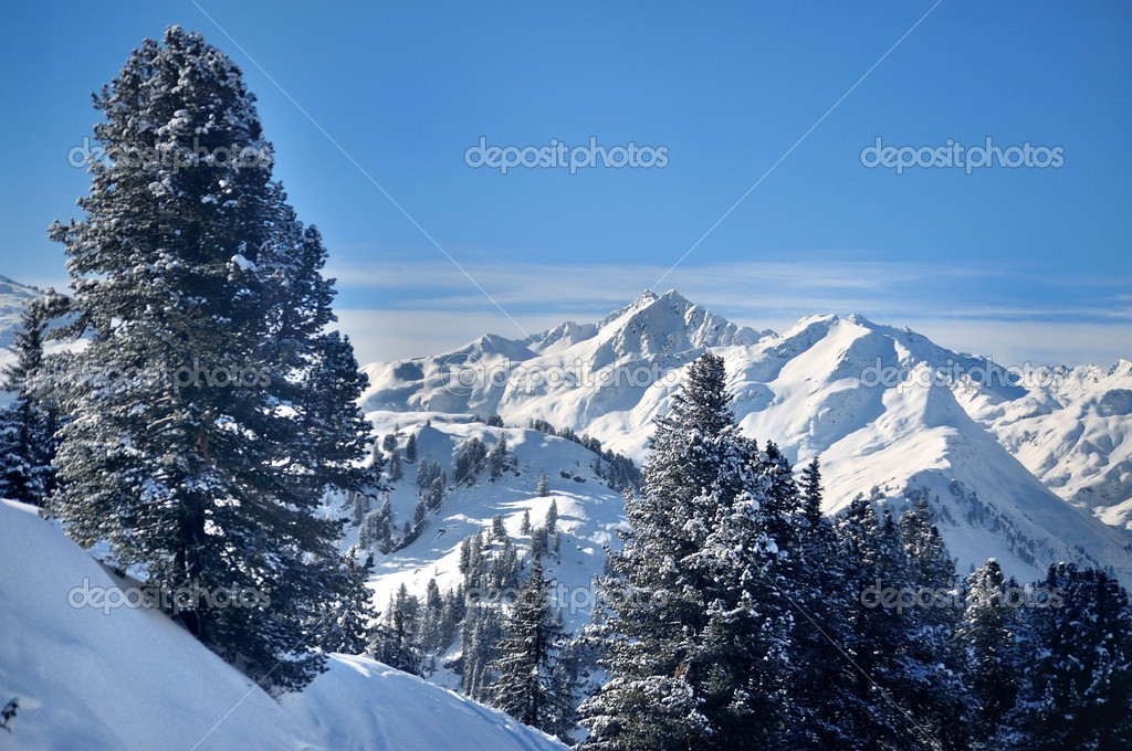 Mountains in the winter, Austian Alps