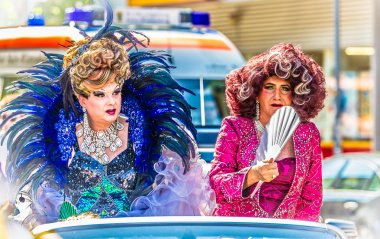 Drag Queens on a float at Christopher Street Day