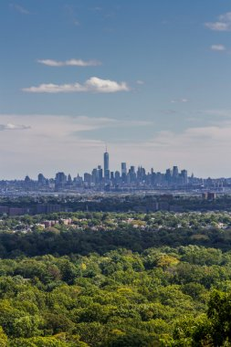 Skyline of Lower Manhattan on a sunny day