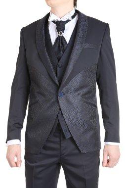 Mens Suit Groom Tuxedo Prom Clothing jacket pants vest.