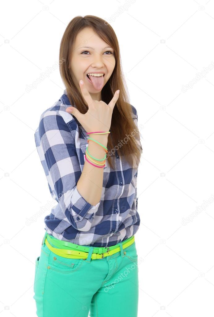 Teen girl hand in pants photo 793