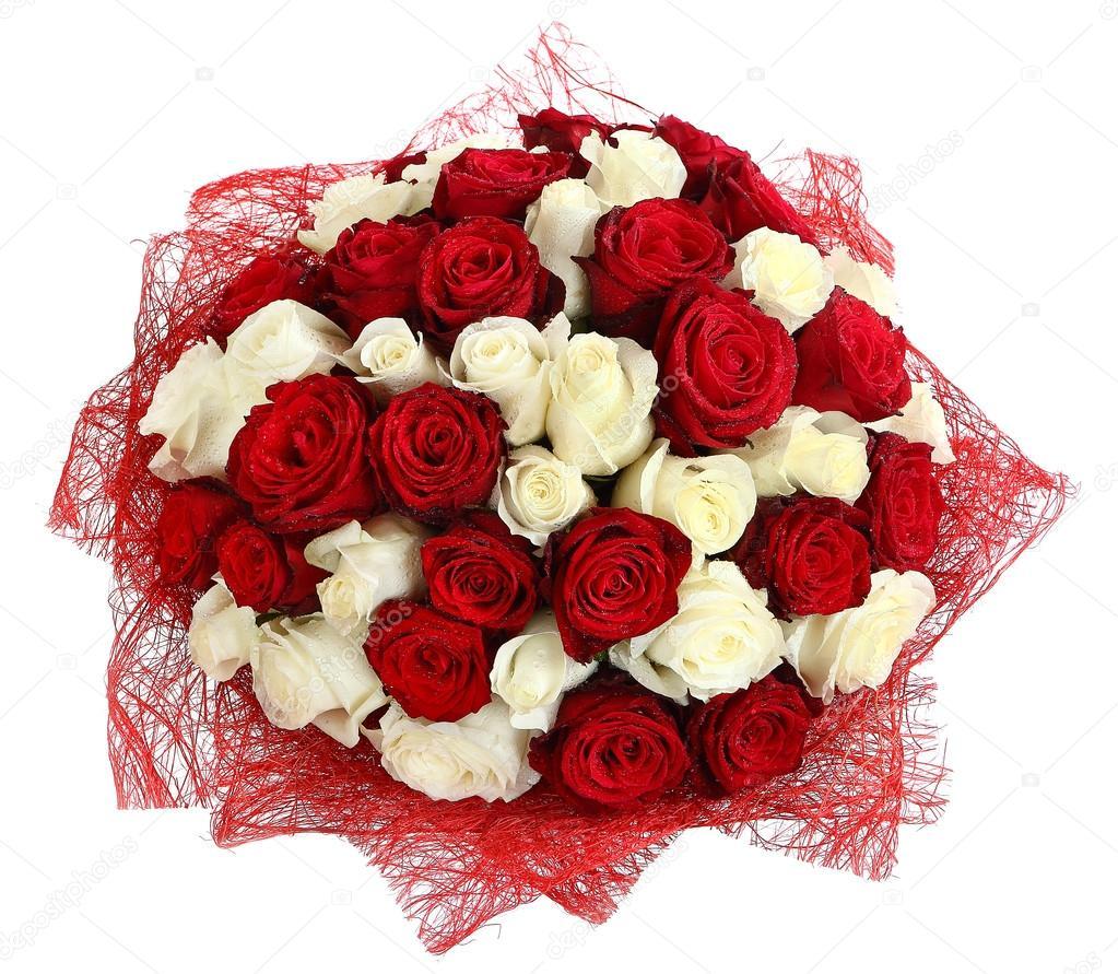 Imágenes Rosas Blancas Y Rojas Hermosas Florístico Arreglo De