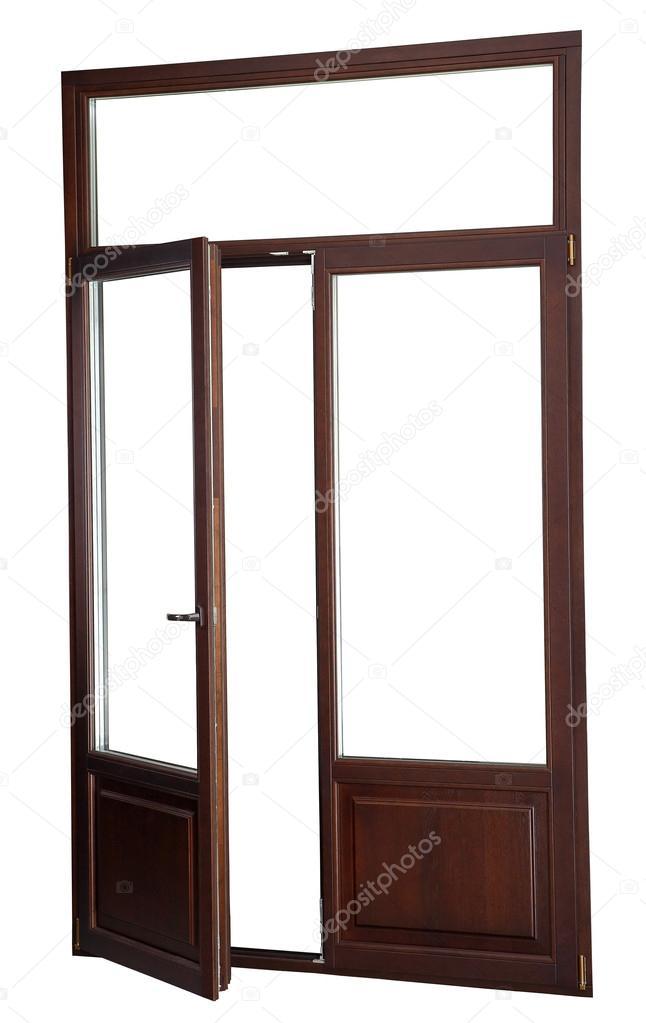 neigen Sie und drehen Sie der Tür, Farbe dunkles Mahagoni. isoliert ...