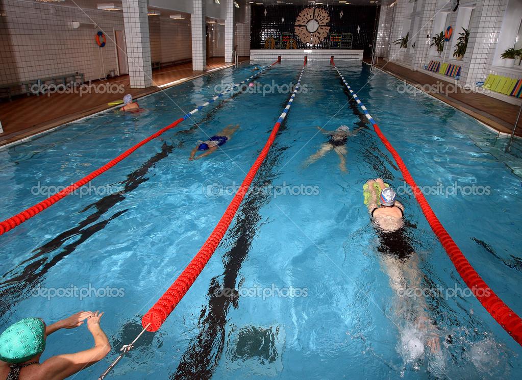 Interior Public Indoor Swimming Pool, Health Improving Swimming U2014 Stock  Photo