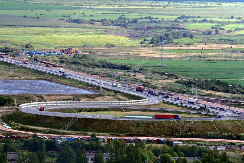 Russian Federation, Saint Petersburg Ring Road, Vehicular Traffic, Cargo Transportation