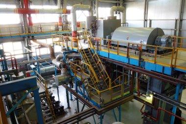 In turbine hall are working turbines