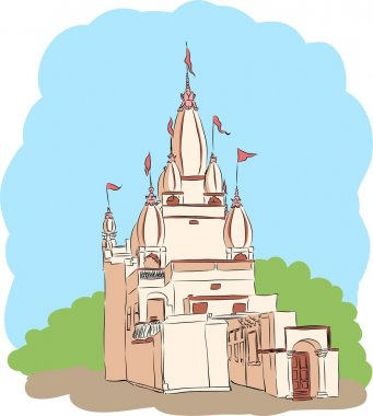 Indian temple vector picture