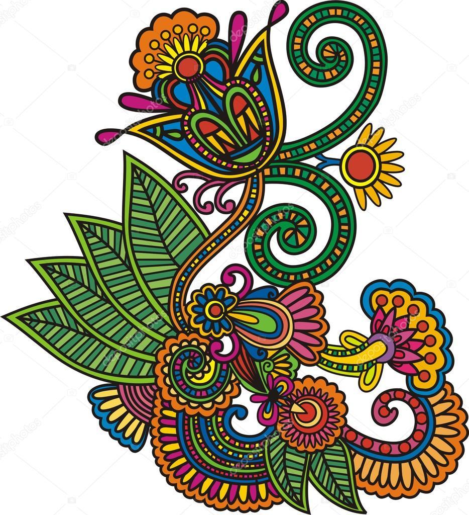 Art Design : Flower art vector design — stock view adv