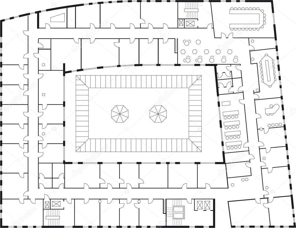 Floor plan of a major building stock vector for Stock floor plans
