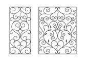 Fotografia moduli di ferro battuto, utilizzabile come recinzioni, ringhiere, inferriate finestra