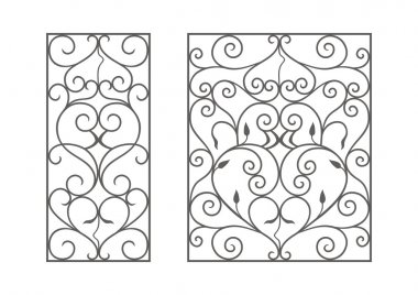 Wrought iron modules, usable as fences, railings, window grilles