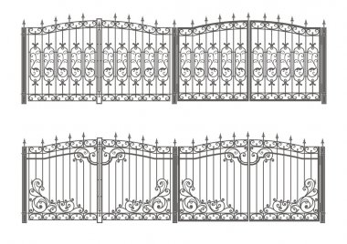 Forged gate and fence
