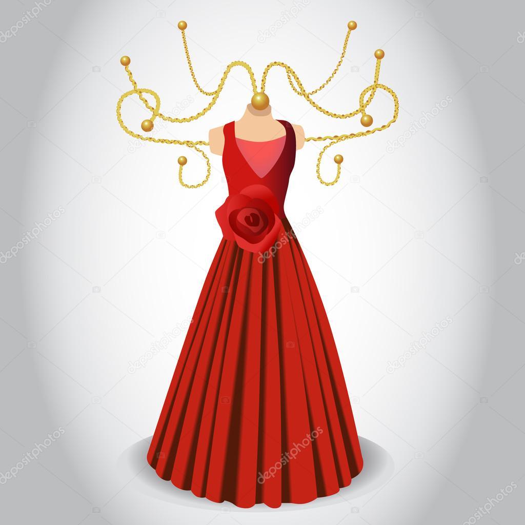 vendimia decorativo colgador vestido — Archivo Imágenes Vectoriales ...
