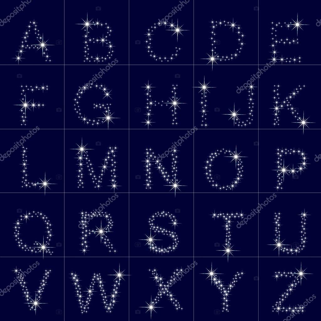 Imágenes De Estrellas Bonitas Alfabeto De La A Z De Las Estrellas