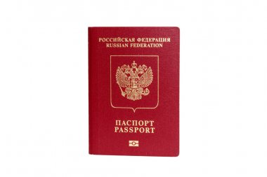 Russian passport isolated with path