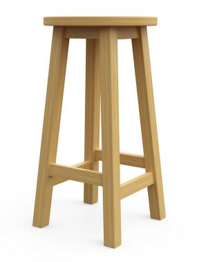 3D wood stool