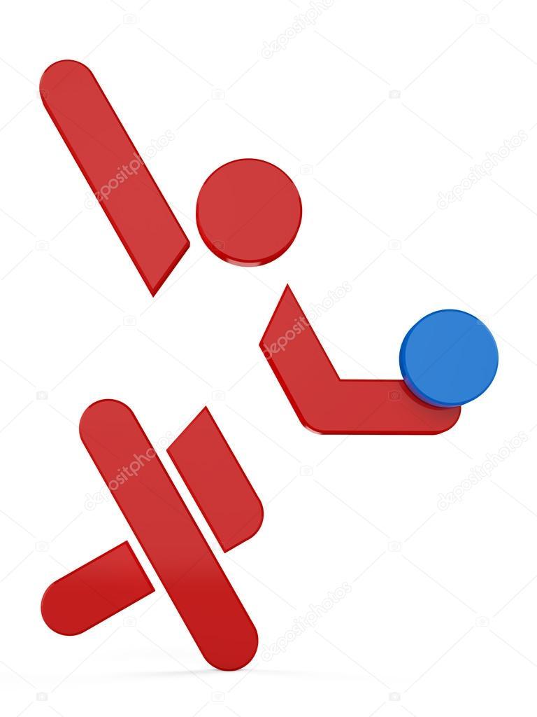 3D sport icon set