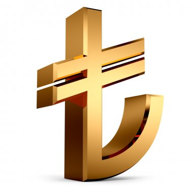 3D TL Sign...Turkish Lira Symbol
