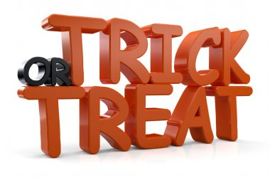 3d Trick or Treat Text