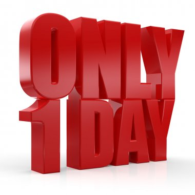3d only one day text
