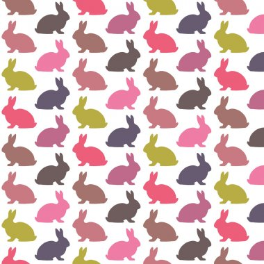 Colorful rabbit pattern