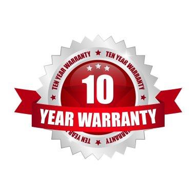 10 year warranty button