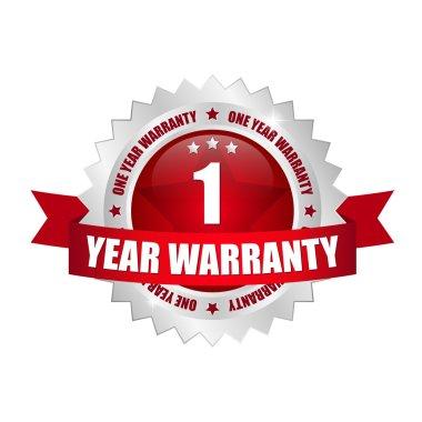 1 years warranty Button
