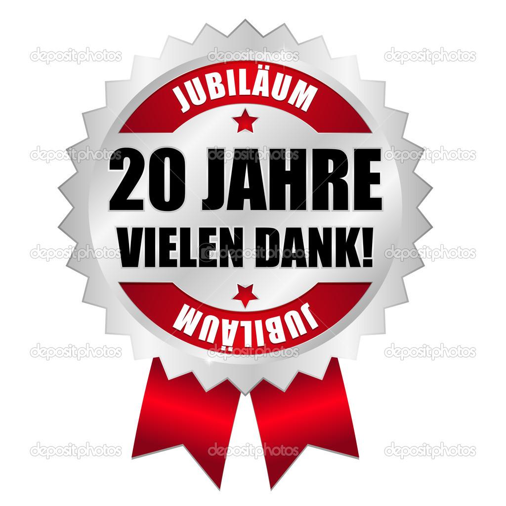 20 Jahre Jubiläum Button - Stock Vector © newartgraphics