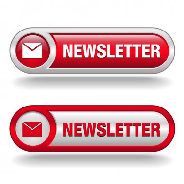 Free newsletter button red and white