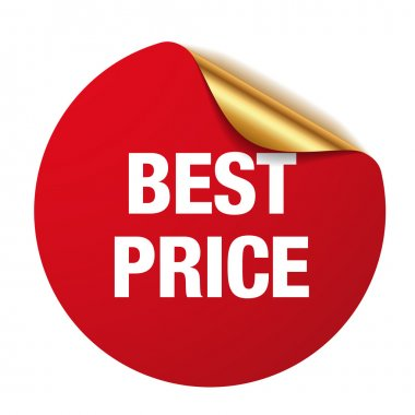 Red best price sticker stock vector