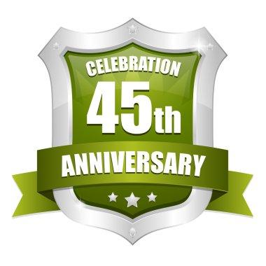 45 years anniversary button