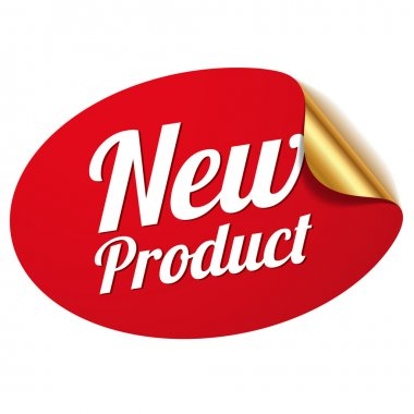 Red new product sticker