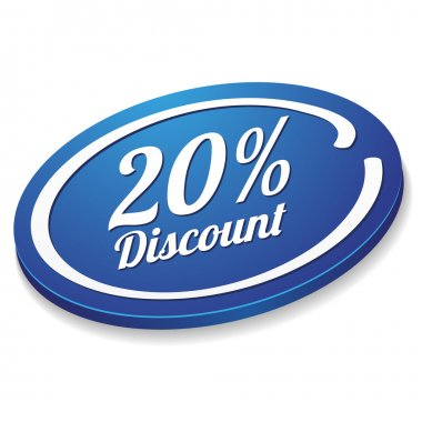 20 percent discount button
