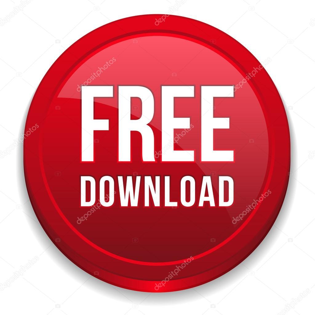 Red round free download button