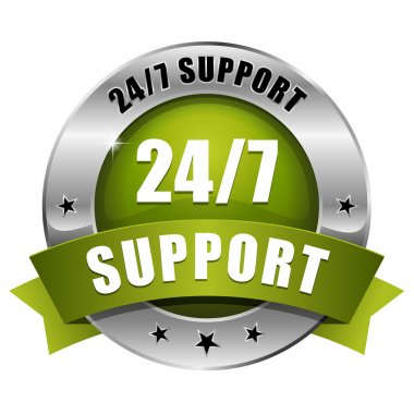Green 24 hour support button