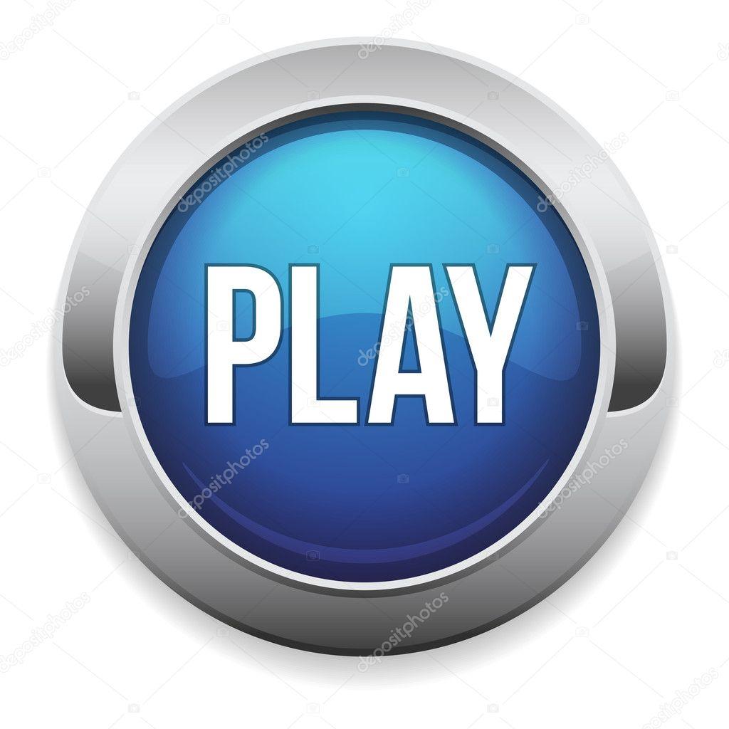 Big blue play button