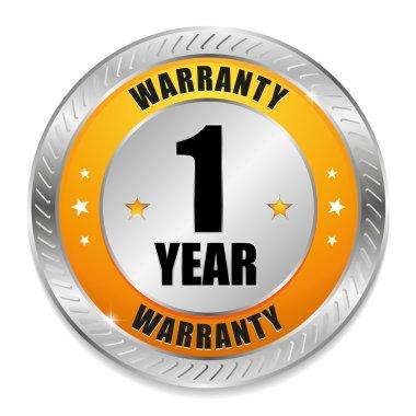 Yellow one year warranty seal