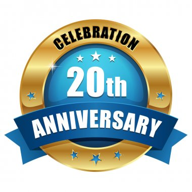 20 years anniversary button