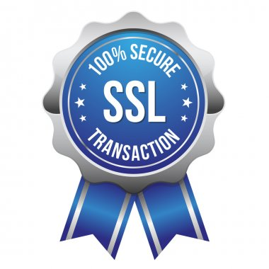 Secure transaction badge with ribbon