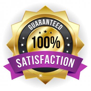 Hundred percent satisfaction badge