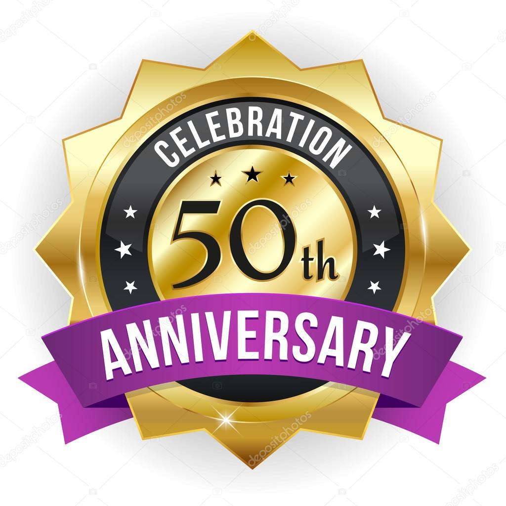 50 Jaar Verjaardag Knop Stockvector C Newartgraphics 33853555