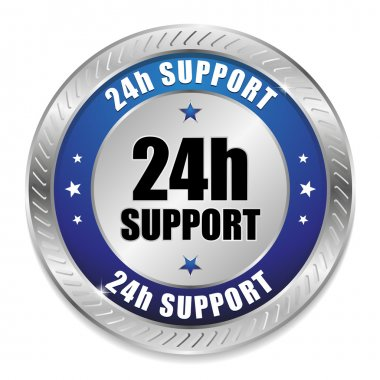 Blue 24 hour support button